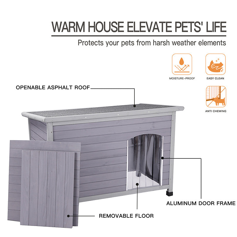 Aivituvin Insulated Wooden Large Dog House-AIR43