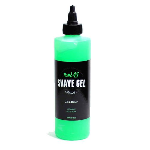 Tomb45 non-foaming shave gel with aloe vera and vitamin E