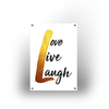 Tuinposter - Gold Love Live Laugh - 100x70cm