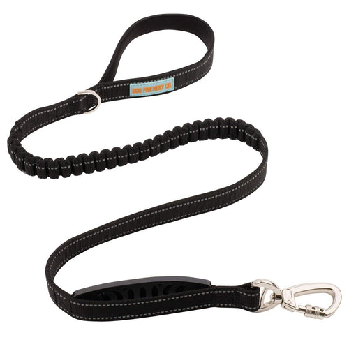 DF Co. Black Bungee Dog Leash