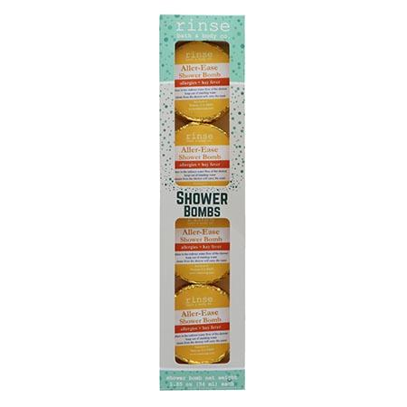4 Pack Shower Bomb Box - Aller-Ease - Rinse Bath & Body