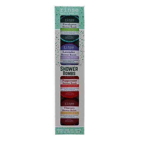 4 Pack Shower Bomb Box - Assorted - Rinse Bath & Body