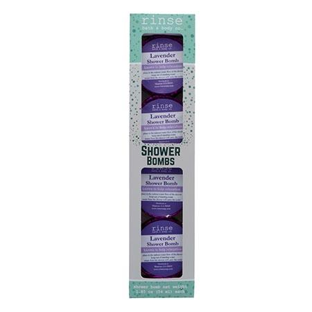 4 Pack Shower Bomb Box - Lavender - Rinse Bath & Body