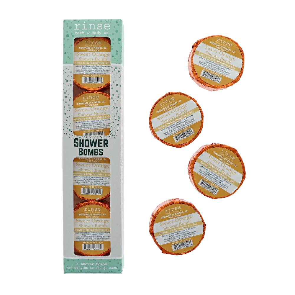 4 Pack Shower Bomb Box - Sweet Orange