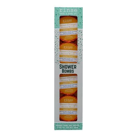 4 Pack Shower Bomb Box - Sweet Orange - Rinse Bath & Body