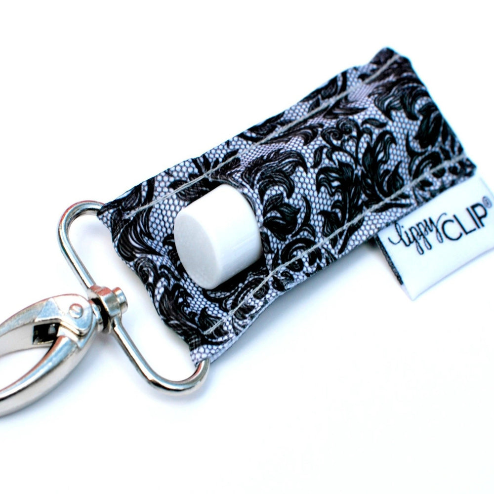 Black and Grey Floral Lippy Clip