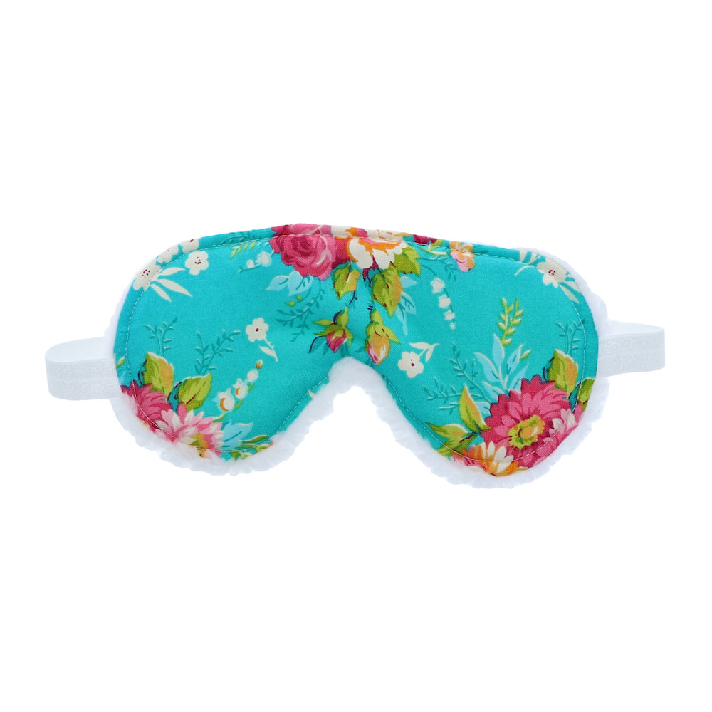 Cute Floral Teal Sleep Mask