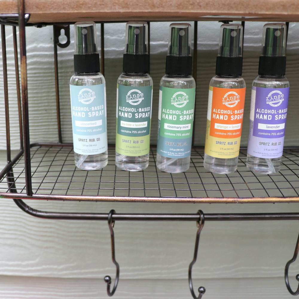 Alcohol-Based Hand Spray - Tea Tree and Lavender - Rinse Bath & Body