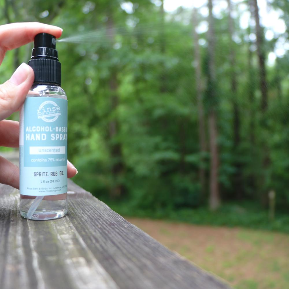 Alcohol-Based Hand Spray - Unscented - Rinse Bath & Body
