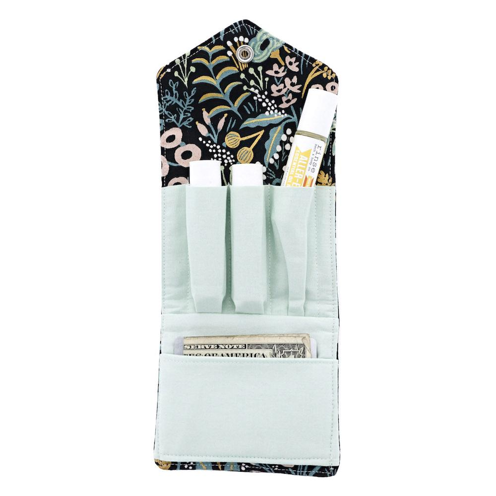 Blue and Yellow Pattern Essential Oil Roll-On Wallet 3 Row - Rinse Bath & Body