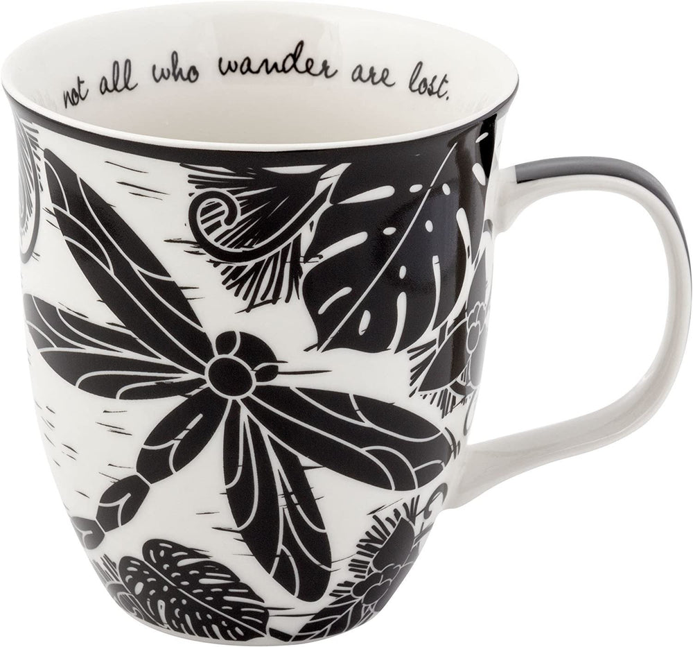 Boho Coffee Mug Not All Who Wander Are Lost