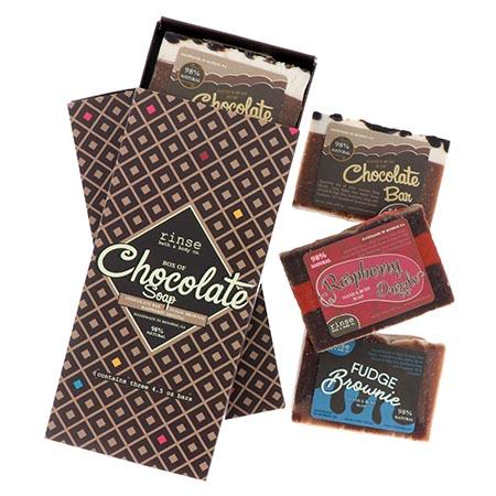 Box of Chocolate Soaps (3 bars) - Rinse Bath & Body