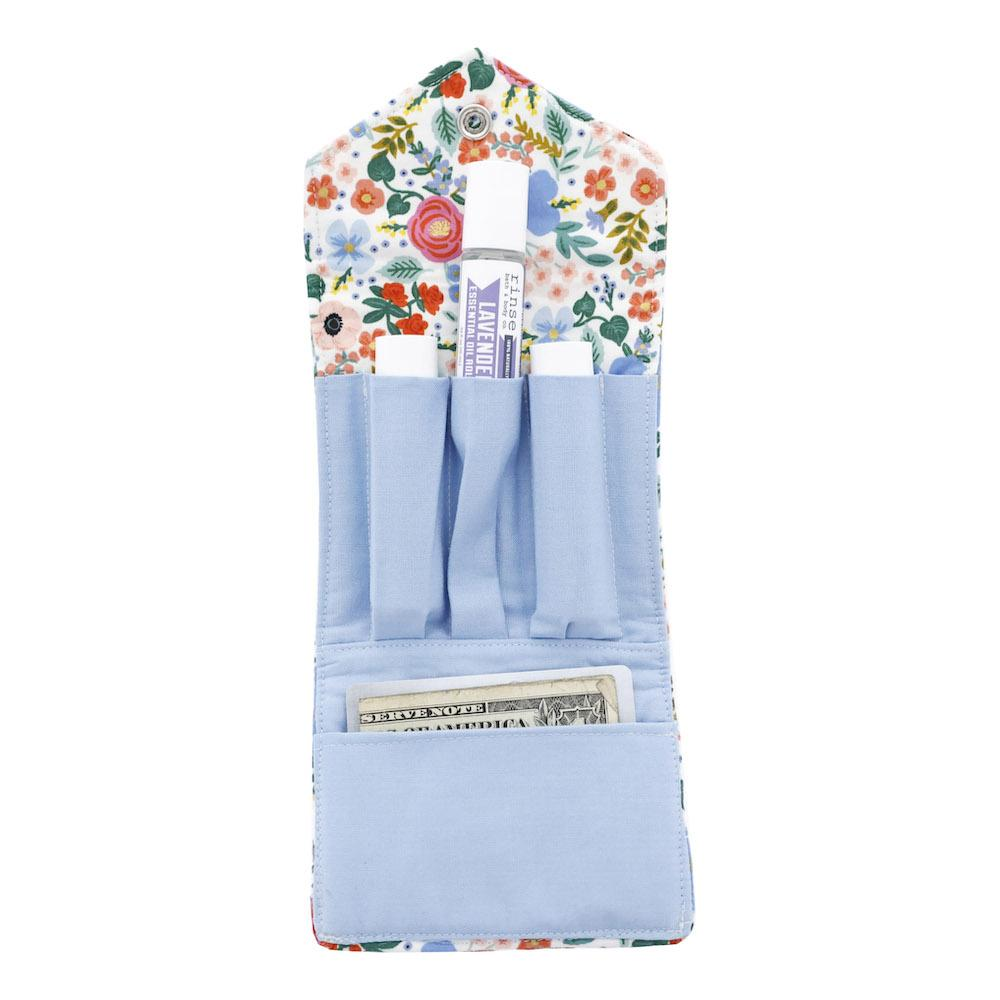 Floral With White Background Essential Oil Roll-On Wallet 3 Row - Rinse Bath & Body
