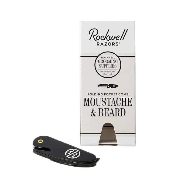 Folding Pocket Comb - Moustache & Beard
