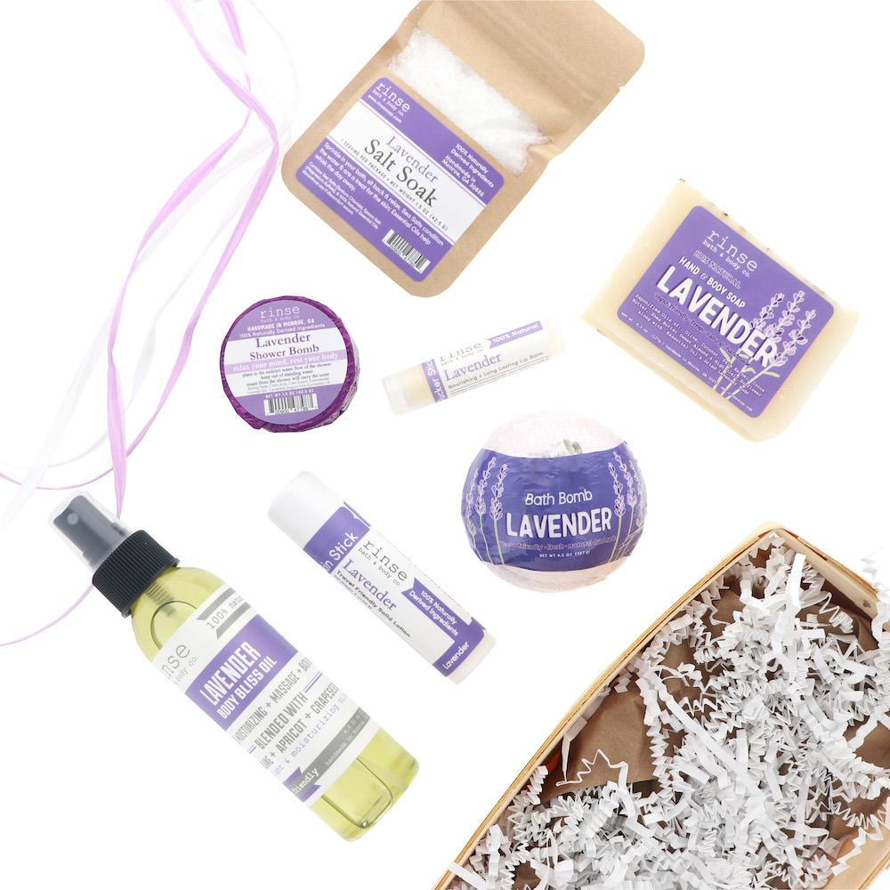 Lavender Gift Basket - Rinse Bath & Body