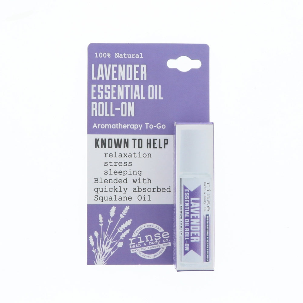 Lavender Roll-On Essential Oil - Boxed - Rinse Bath & Body