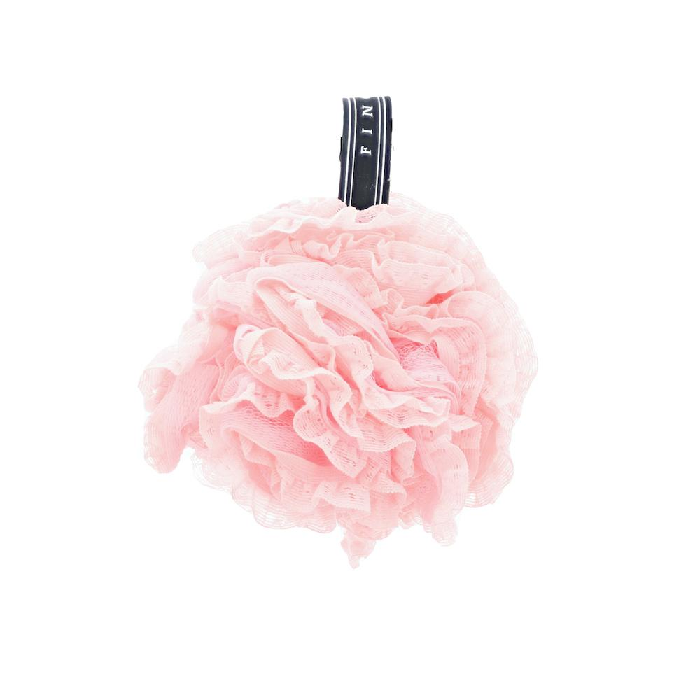 Pink Lacy Loofah
