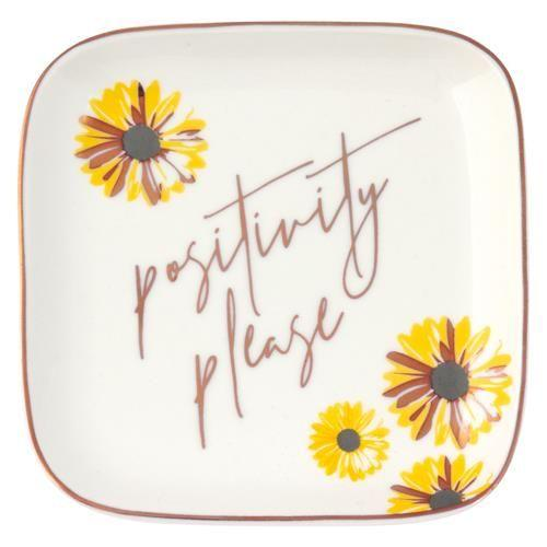 Positivity Please Square Trinket Tray