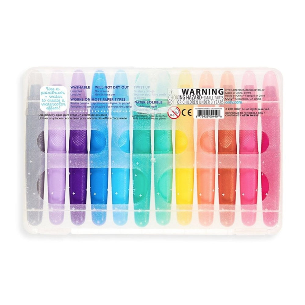 Rainbow Sparkle Watercolor Gel Crayons - Rinse Bath & Body