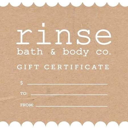 Rinse Virtual Gift Card - Rinse Bath & Body