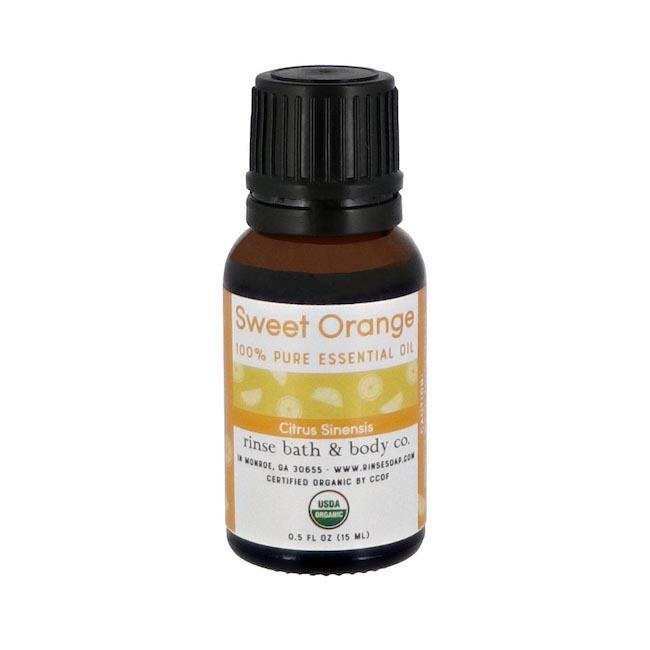 Sweet Orange Essential Oil - Certified Organic - Rinse Bath & Body