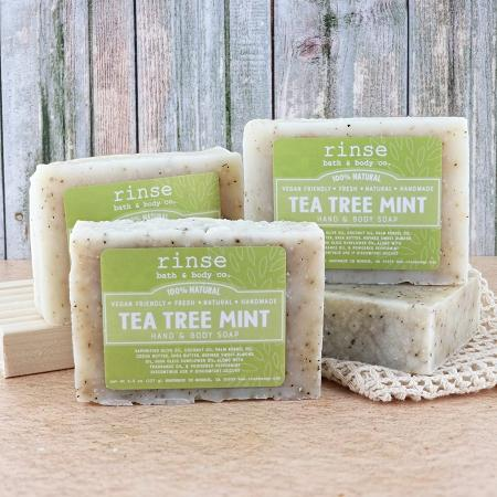 Tea Tree Mint Soap - Rinse Bath & Body