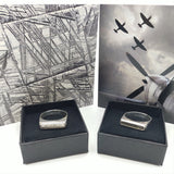 Mens engagement or wedding ring: Spitfire and Meteroite