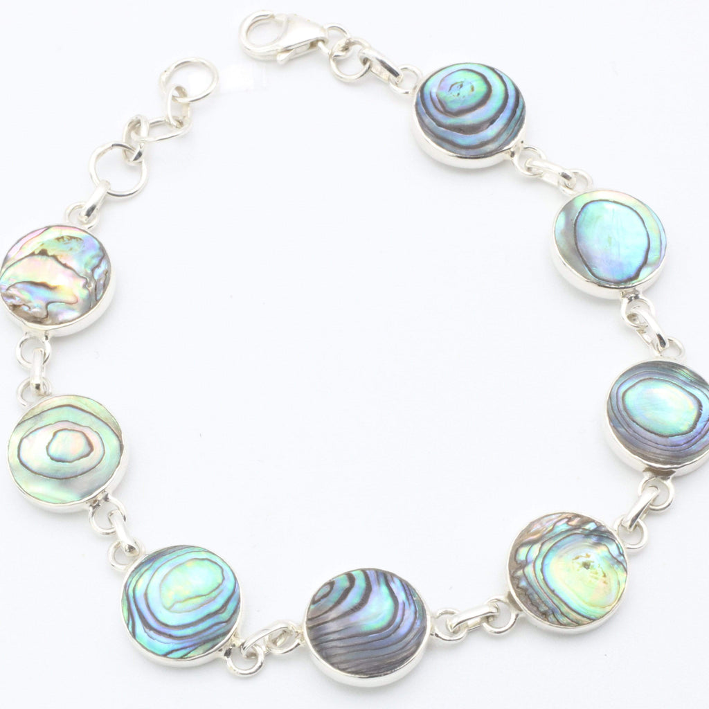 Hepburn and Hughes Abalone Shell Bracelet | Eight Circles | Sterling Silver