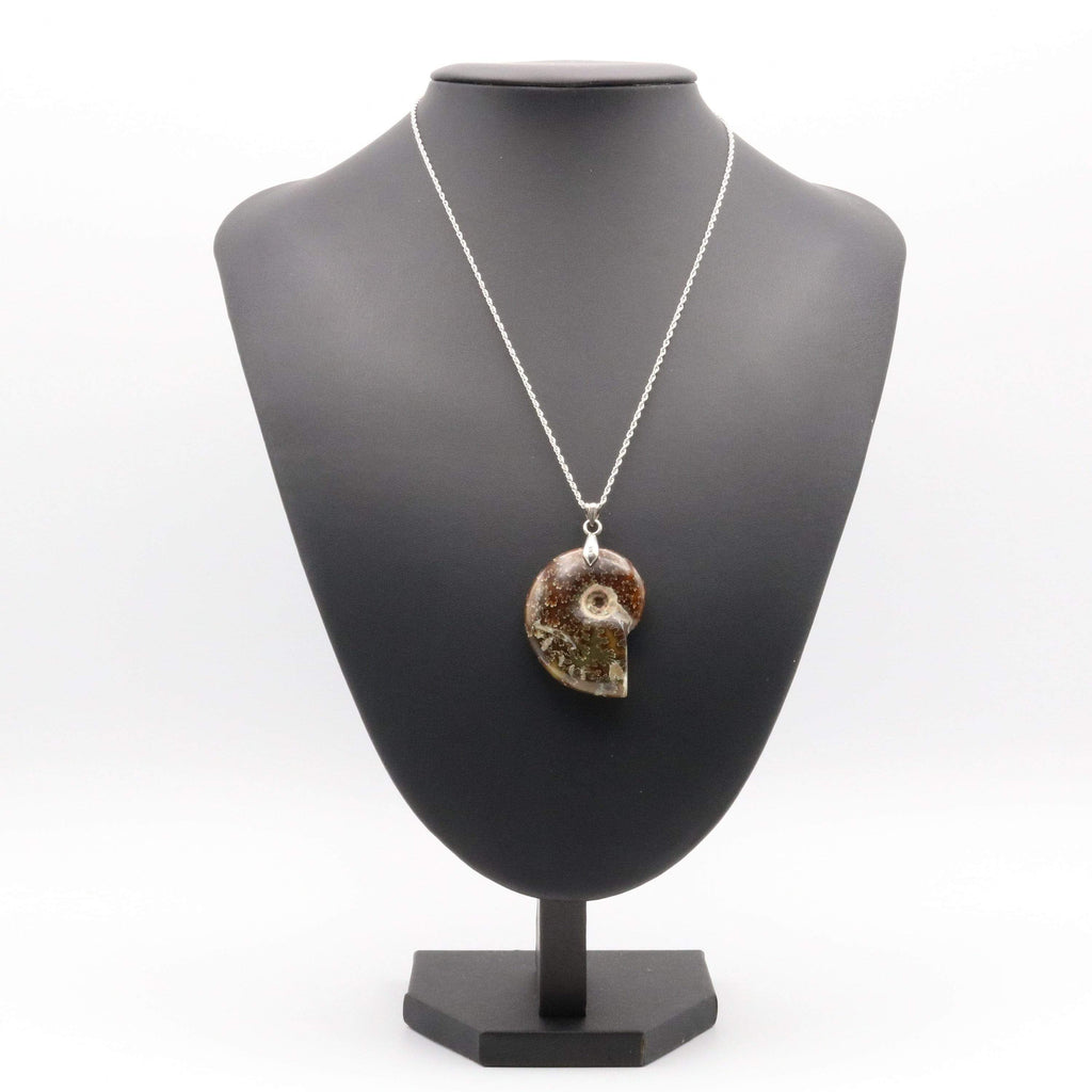 Hepburn and Hughes Ammonite Pendant, in Sterling Silver