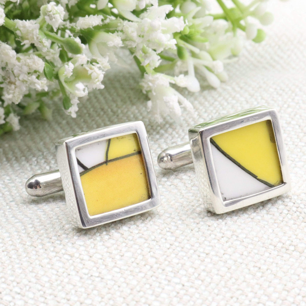 Hepburn and Hughes Art Deco | Cufflinks | Clarice Cliff | Sterling Silver