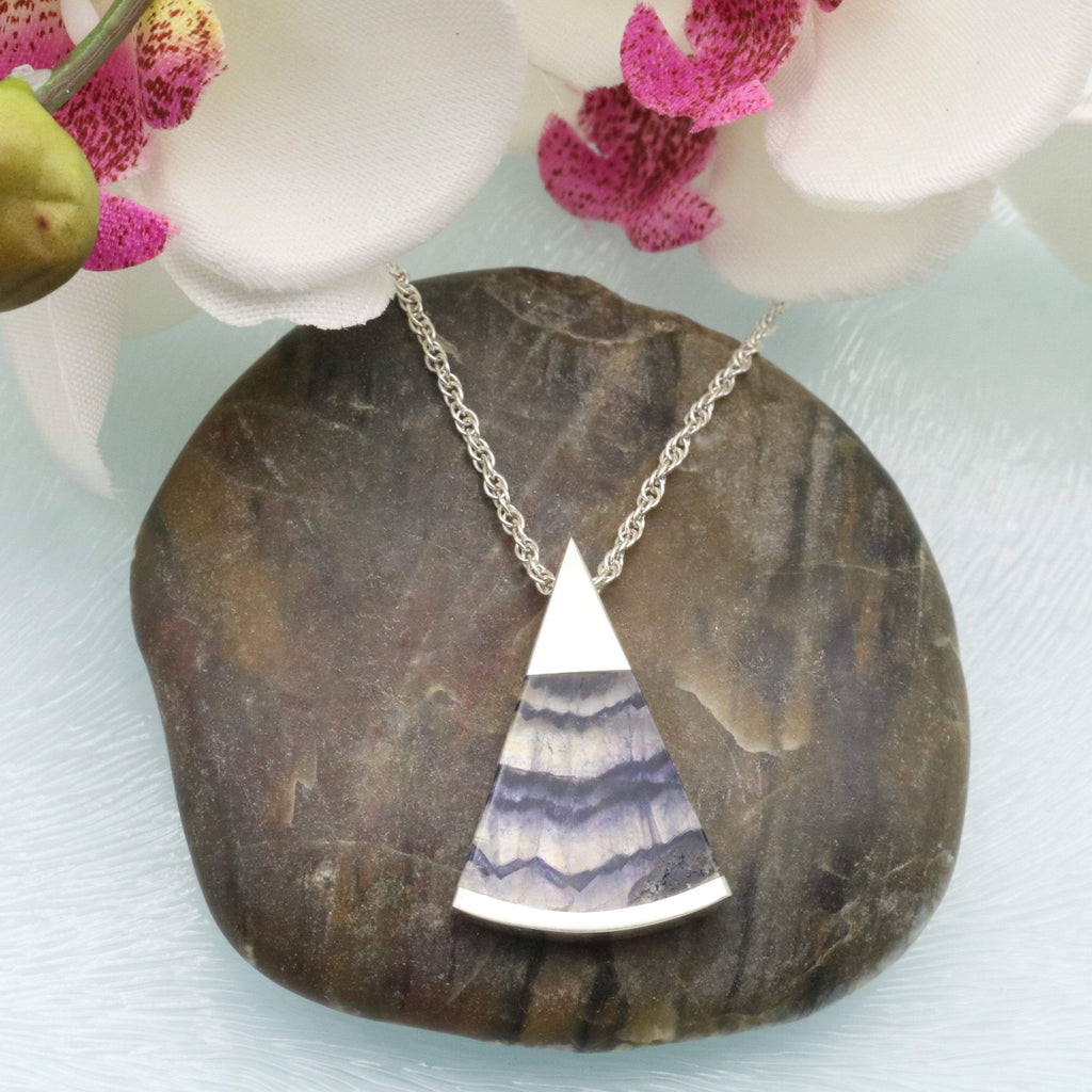 Hepburn and Hughes Blue John Pendant | Triangle | Sterling Silver