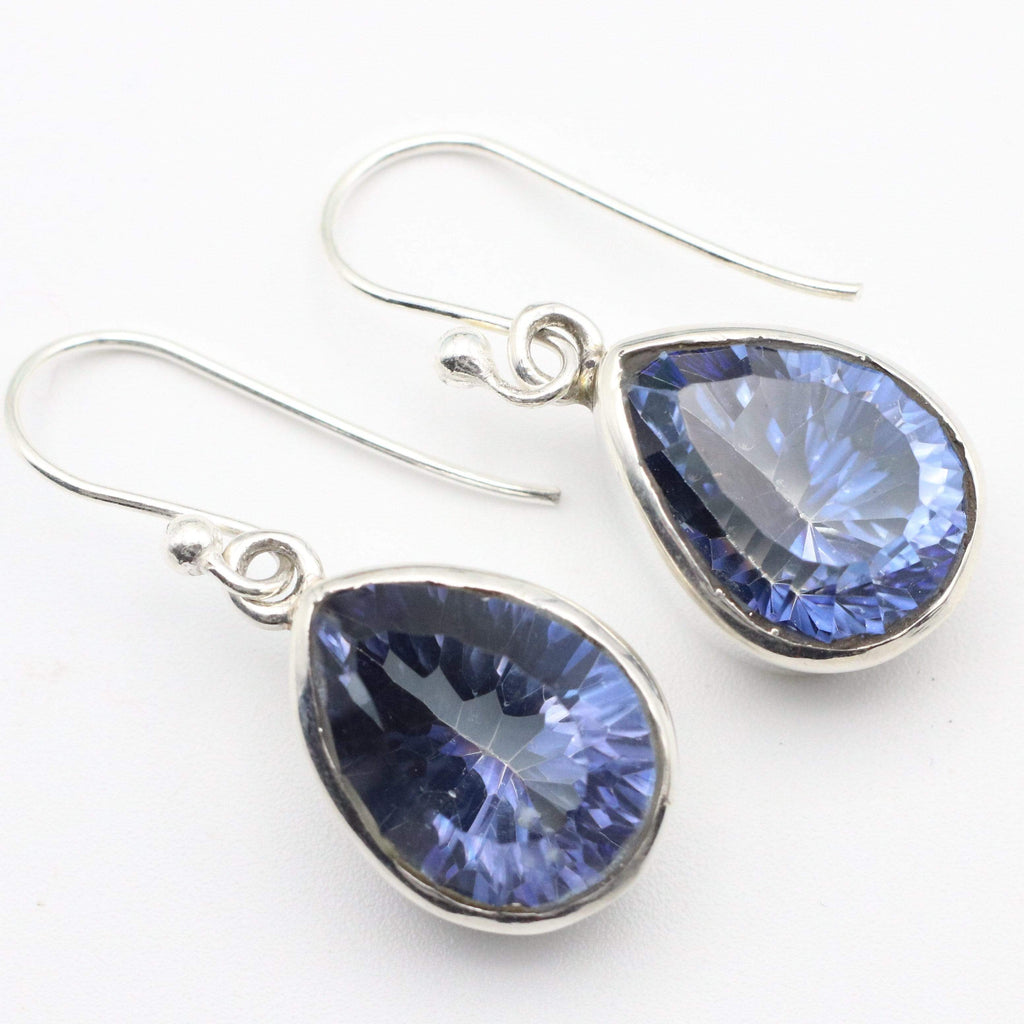 Hepburn and Hughes Blue Topaz | Drop Earrings | Teardrop | Sterling Silver