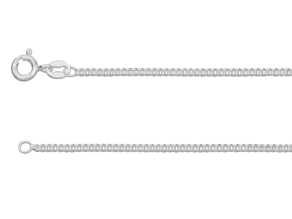 "Hepburn and Hughes Curb Chain 24"", Sterling Silver"