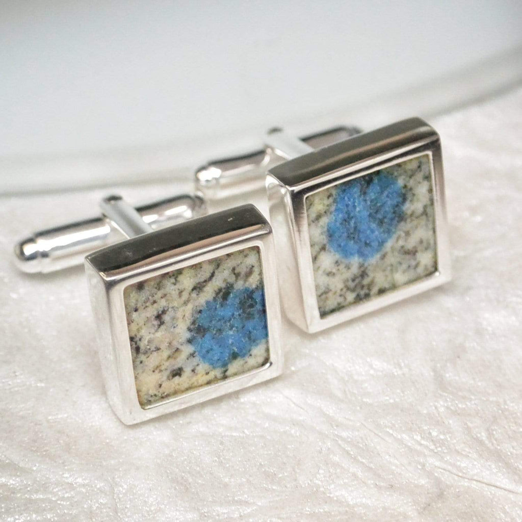 Hepburn and Hughes K2 Mountain Cufflinks in Sterling Silver