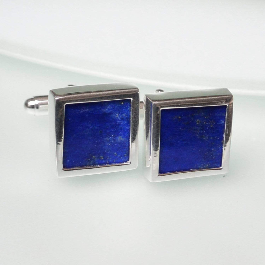 Hepburn and Hughes Lapis Lazuli Cufflinks in Sterling Silver
