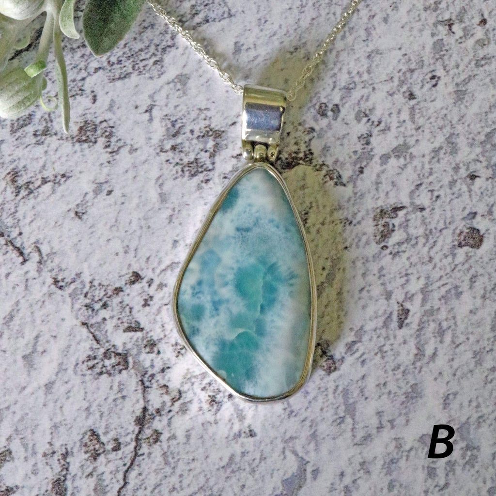 Hepburn and Hughes Larimar Pendant, in Sterling Silver