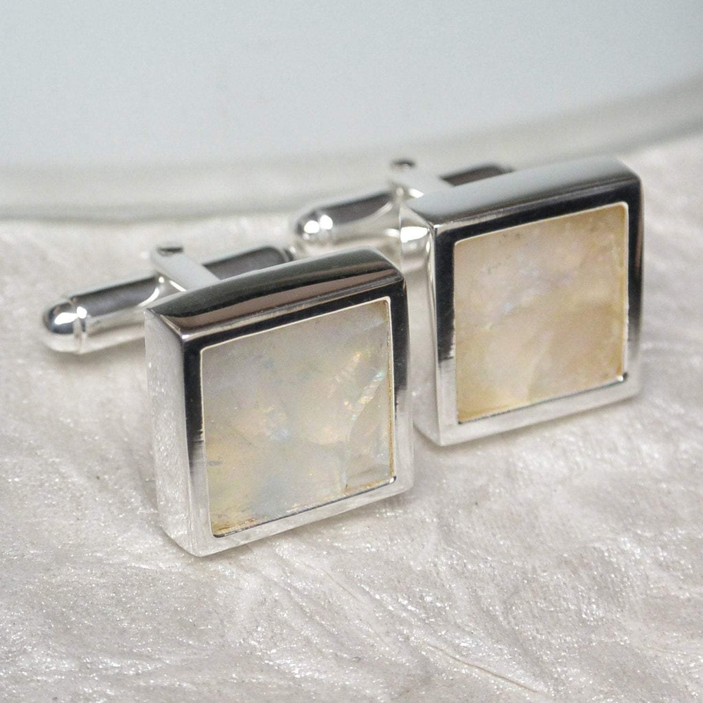 Hepburn and Hughes Moonstone Cufflinks in Sterling Silver