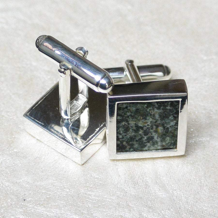 "Hepburn and Hughes Preseli ""Stonehenge"" Cufflinks in Sterling Silver"