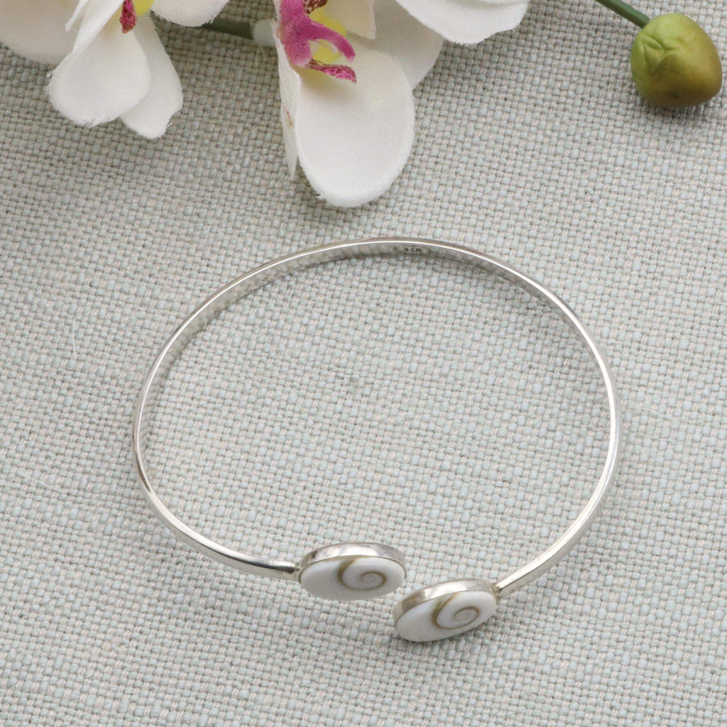 Hepburn and Hughes Shiva Eye Bracelet | Double Oval | Sterling Silver