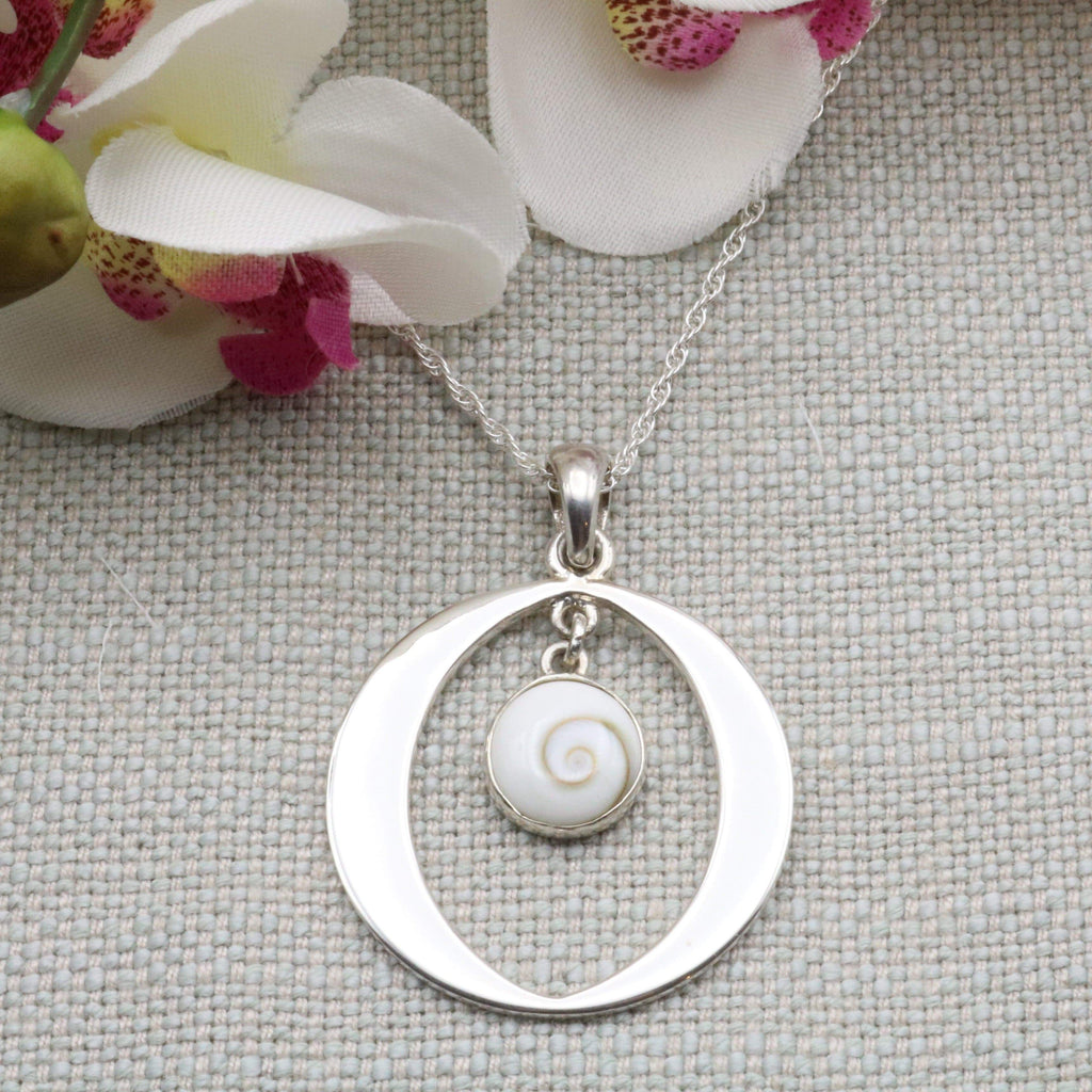 Hepburn and Hughes Shiva Eye Pendant | Circle Hoop | Sterling Silver