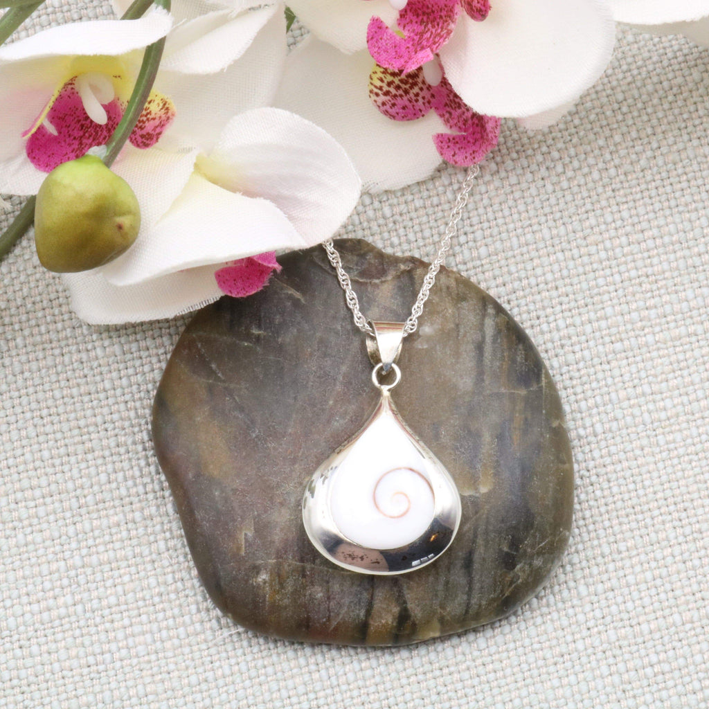 Hepburn and Hughes Shiva Eye Pendant | Reversible with Mother of Pearl | Sterling Silver