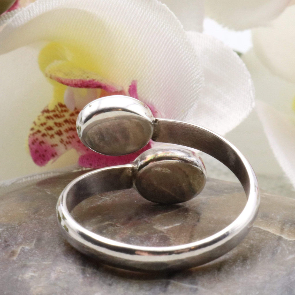 Hepburn and Hughes Shiva Eye Ring | Two Small Ovals | Sterling Silver