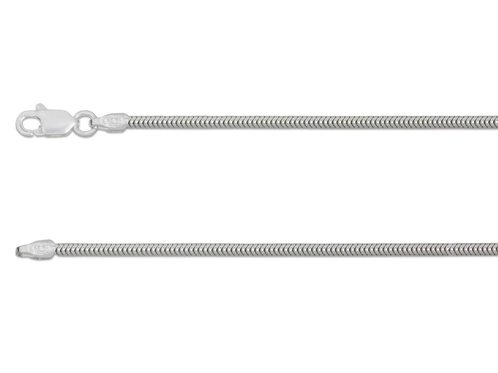 "Hepburn and Hughes Snake Chain 30"", Sterling Silver"