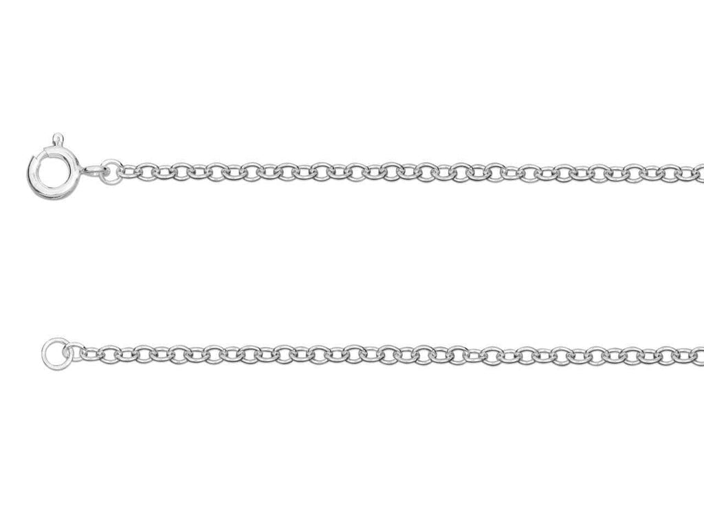 "Hepburn and Hughes Trace Chain 30"", Sterling Silver"