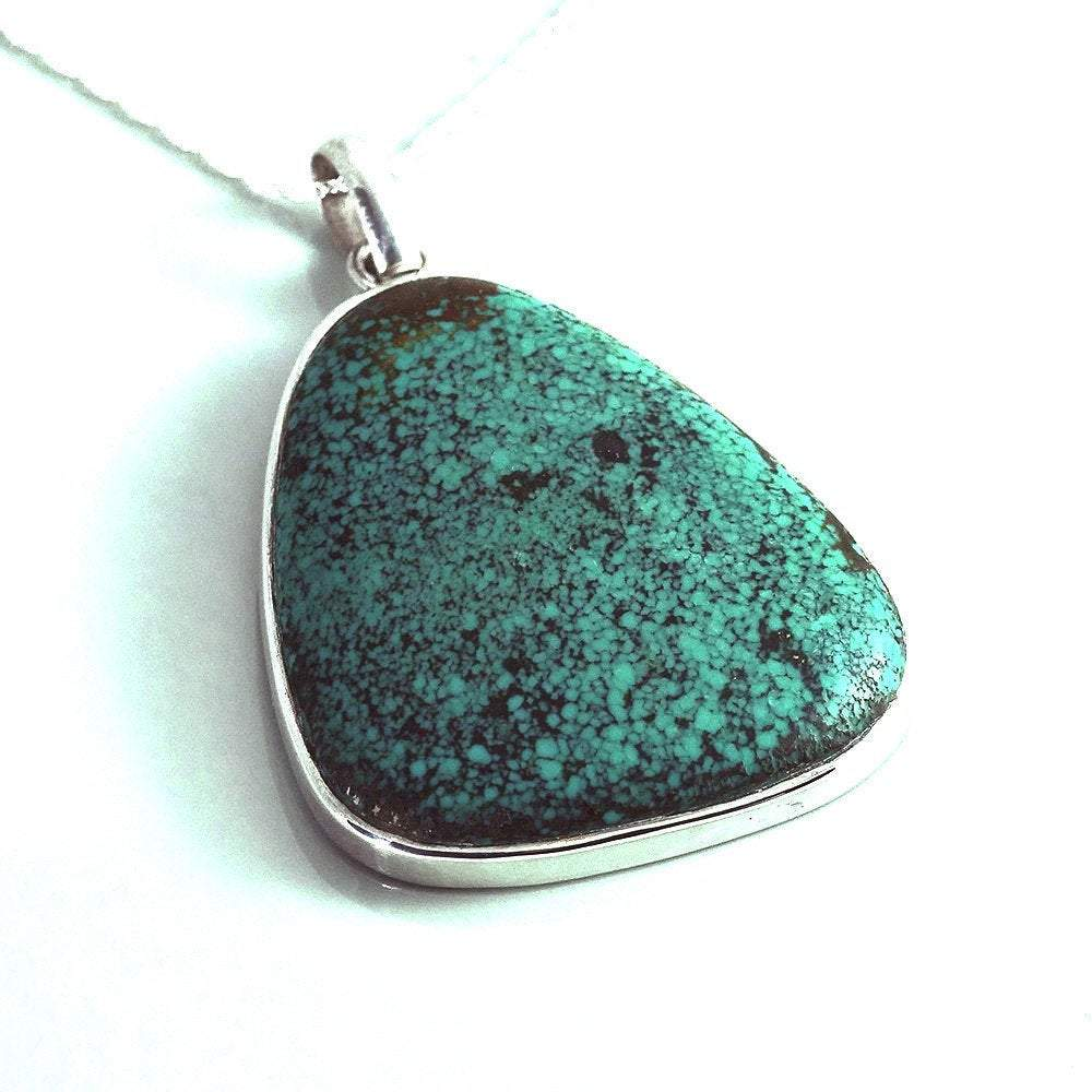 Hepburn and Hughes Turquoise Pendant Large in Sterling Silver