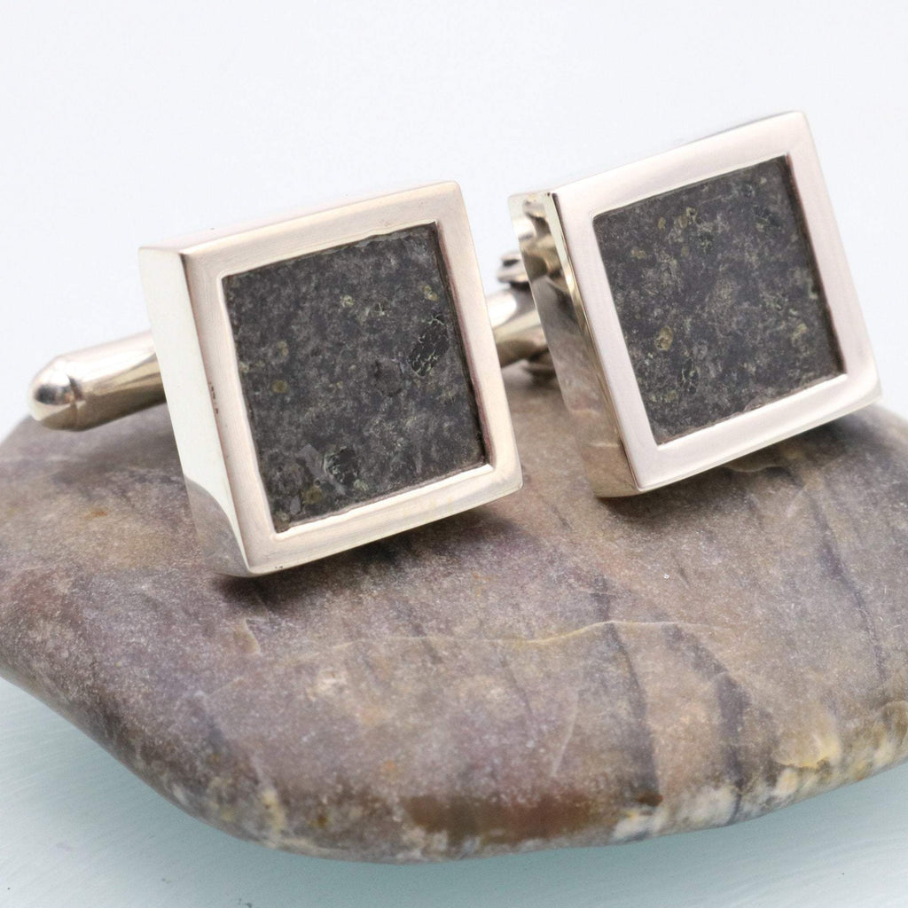Hepburn and Hughes Volcanic Rock Cufflinks in Sterling Silver