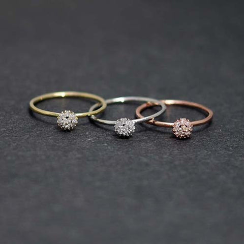 Crystal point Rings