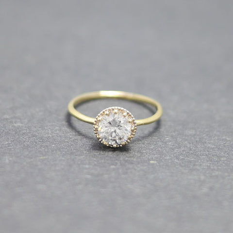 engagement ring - gold