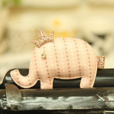 Shabby Chic Princess Elephant Hair Clip for baby