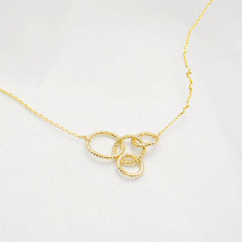 en silver necklaces circle happiness necklace boutique
